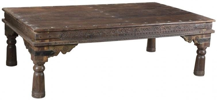 Antique Wooden Coffee Table - Extra Large