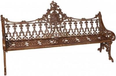 Handicrafts Industrial Ornate Antique Cast Iron Large Bench
