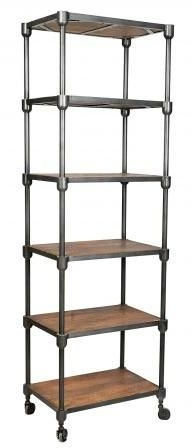 Handicrafts Industrial Tall Shelving Unit - Iron and Wood