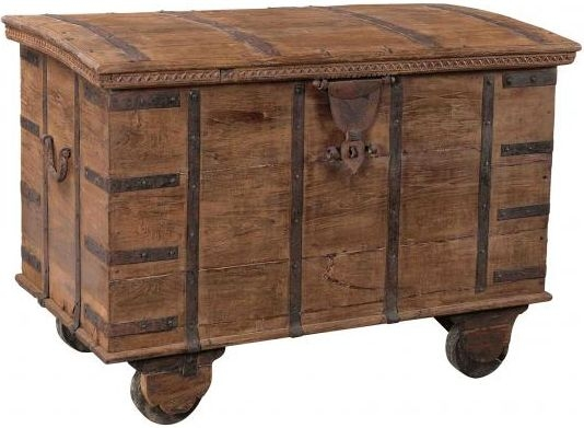 Handicrafts Industrial Antique Wooden Large Chest