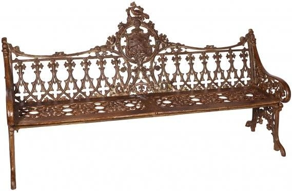 Handicrafts Industrial Ornate Antique Cast Iron Large Bench