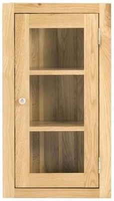Handmade Oak 1 Right Door Glazed Wall Cabinet