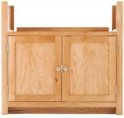Handmade Oak 2 Door Belfast Sink Cabinet