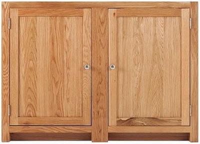Handmade Oak 2 Door Corner Cabinet