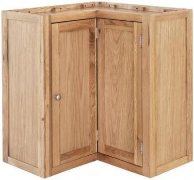 Handmade Oak 1 Door Wall Corner Unit