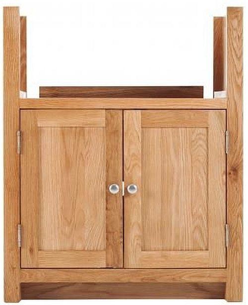 Handmade Oak 2 Door Sink Adjustable Cabinet