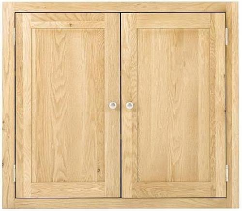 Handmade Oak 2 Door Wall Cabinet