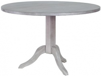 Hereford Slate Oak Pedestal Table - Round