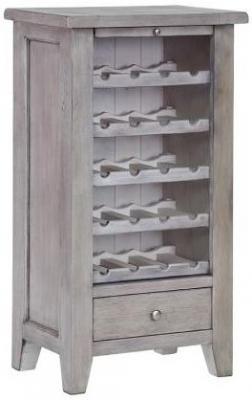 Hereford Slate Oak Wine Unit - 5 Shelves and 1 Drawer