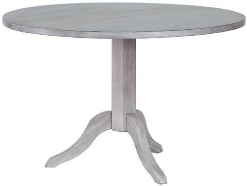 Hereford Slate Oak Pedestal Table - Round