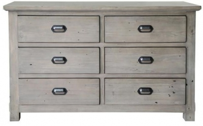 Homestead Recycled Pine 6 Drawer Dresser
