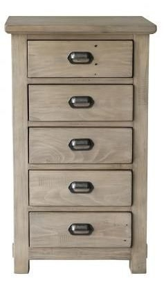 Homestead Recycled Pine 5 Drawer Tall Boy Chest