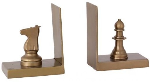 Industrial Accessories Bookends with King and Queen