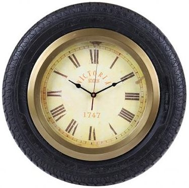 Industrial Accessories Clock with Car Tyre