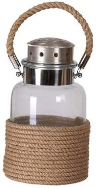 Industrial Accessories Glass Lantern with Rope Wrapped - Large