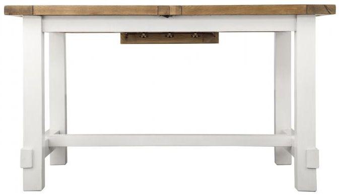 Industrial Oak Dining Table - 140cm-180cm Rectangular Extending