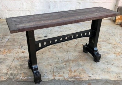 Industrial Originals Large Console Table - Wood and Metal