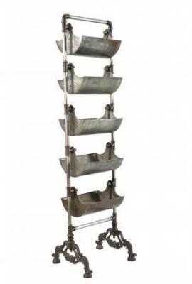 Industrial Originals Metal Basket Shelving Unit