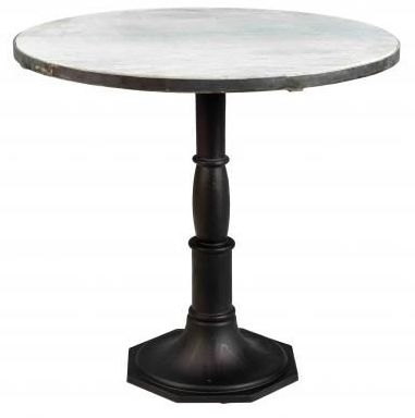 Industrial Originals Round Marble Dining Table