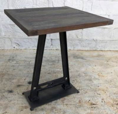 Industrial Originals Small Bar Table - Wood and Metal