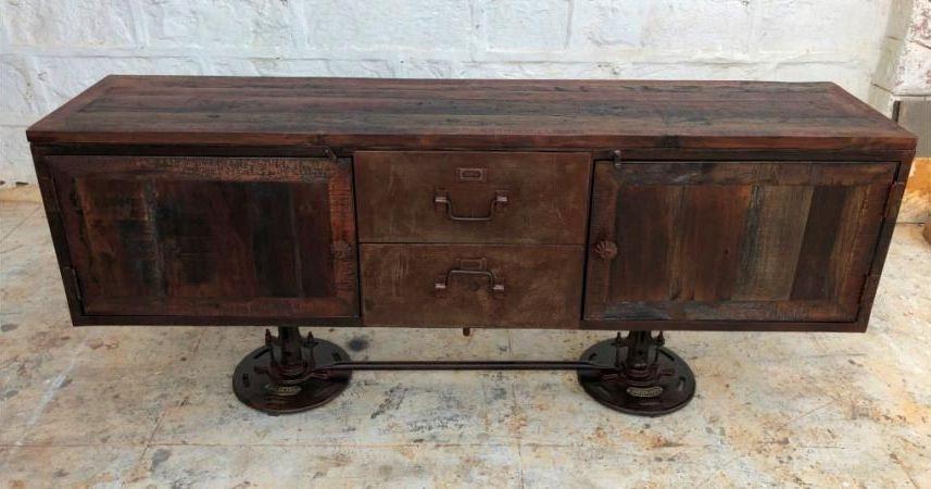 Industrial Originals Adjustable Sideboard - Wood and Metal