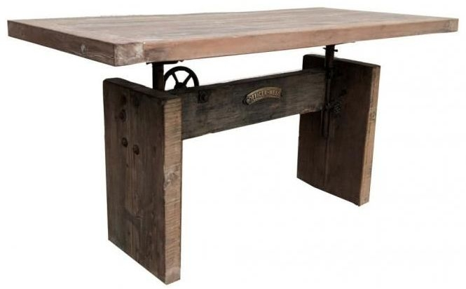 Industrial Originals Adjusting Dining Table - Wood and Metal