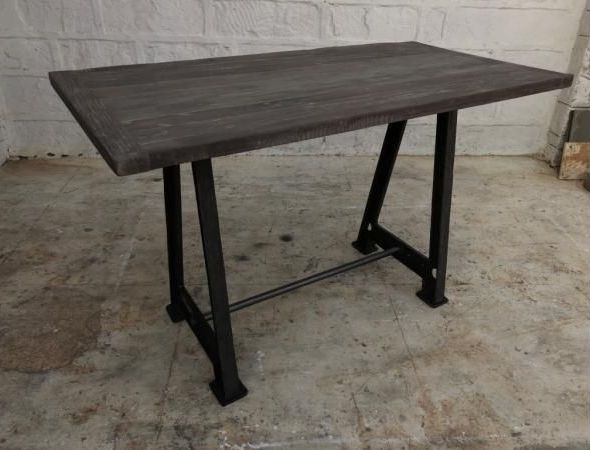 Industrial Originals Large Bar Table - Wood and Metal
