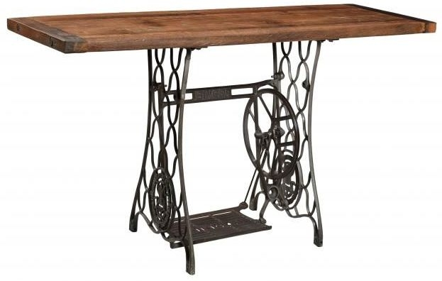 Industrial Originals Sewing Console Table - Wood and Metal