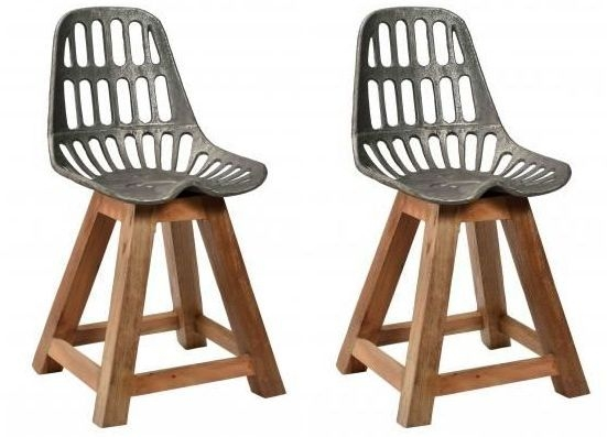 Industrial Originals Dining Chair - Wood and Metal (Pair)