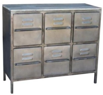 Industrial Metal 6 Drawer Chest