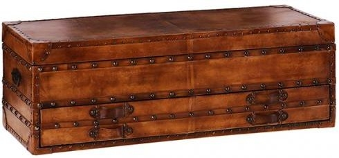 Lauren Leather Trunk with Drawer