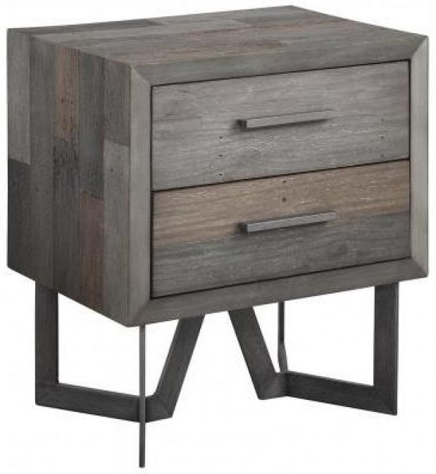 London 2 Drawer Lamp Table