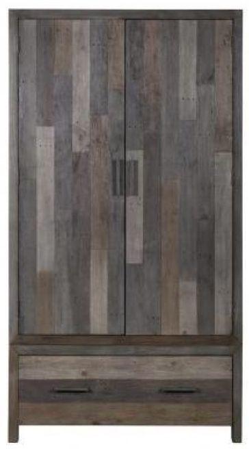 London Wardrobe - 2 Door 1 Drawer