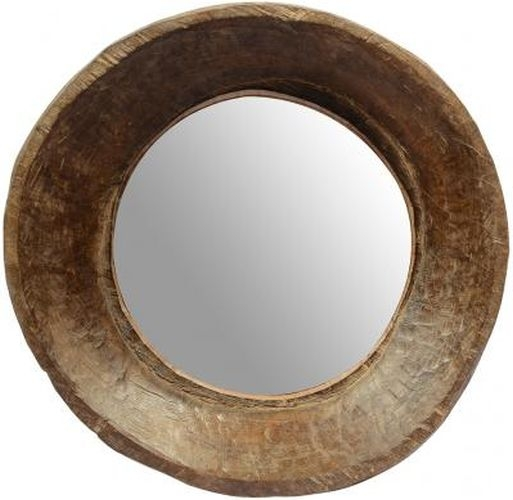 Old Wooden Bowl Mirror