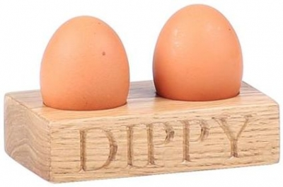 Oak Home Accessories Egg Holder with Dippy Engraved