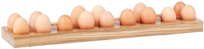 Oak Home Accessories Egg Holder For 18 Eggs
