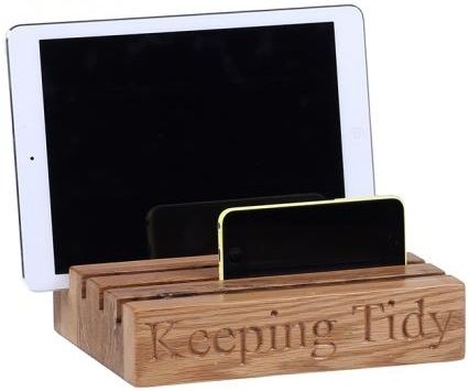 Oak Home Accessories Oak Tidy with Keeping Tidy Engraved