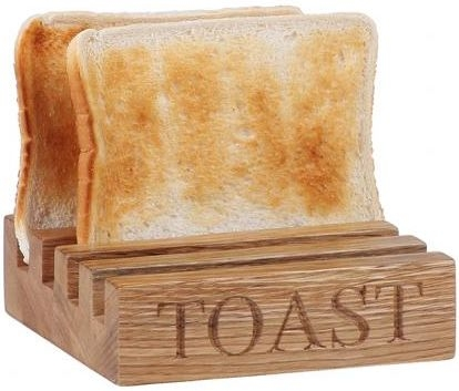 Oak Home Accessories Toast Rack with Toast Engraved