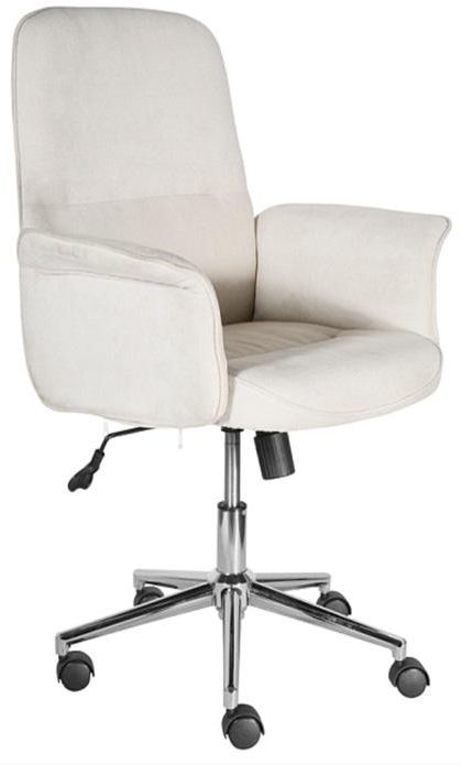 Office Chairs Grey Luxury Padded Office Chair with Armrest and Chrome Base