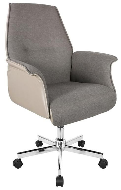 Office Chairs Grey Sleek and Slim Office Chair with Chrome Base
