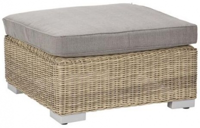 Outdoor Wicker and Rattan Aluminium Footstool