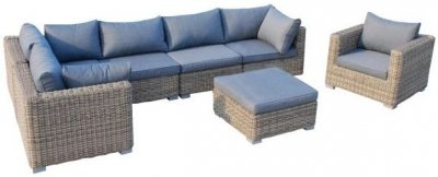 Outdoor Wicker and Rattan Lounge Corner Set