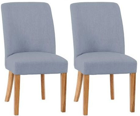 Padded Chairs Oak Chair with Grey Colour (Pair)