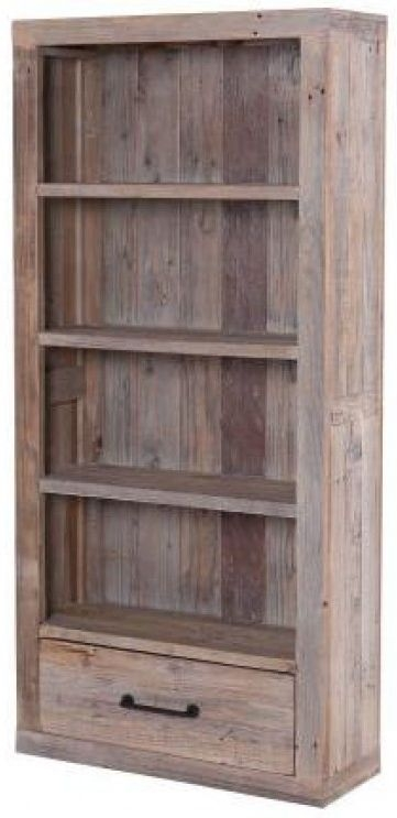 Reclaimed Wood Bookcase - 1 Drawer