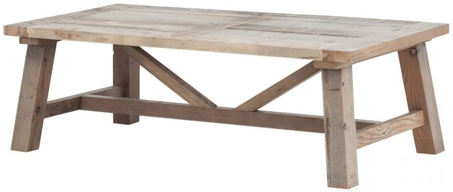 Reclaimed Wood Coffee Table with Slanted Legs