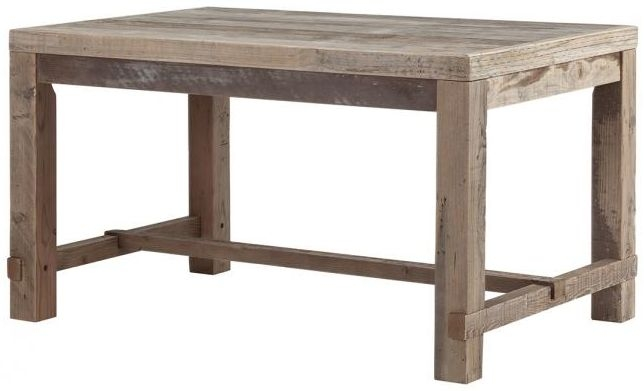 Reclaimed Wood Rectangular Dining Table - 140cm