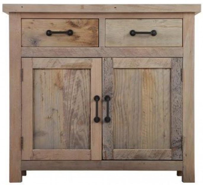 Reclaimed Wood Sideboard - 2 Door 2 Drawer