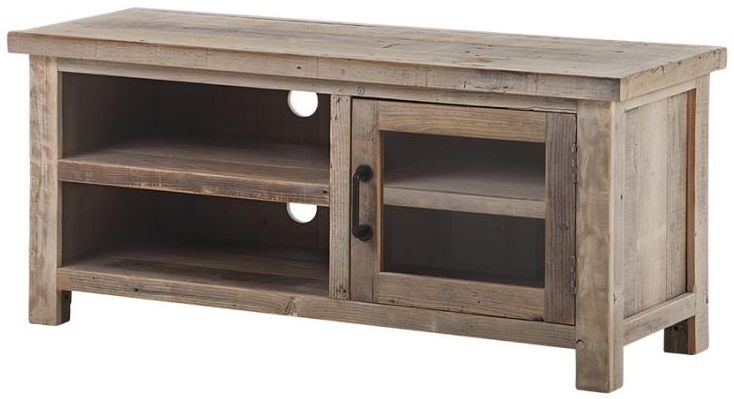Reclaimed Wood 1 Door TV Unit