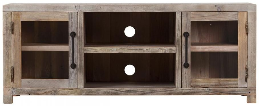 Reclaimed Wood TV Unit - 2 Door 3 Shelves