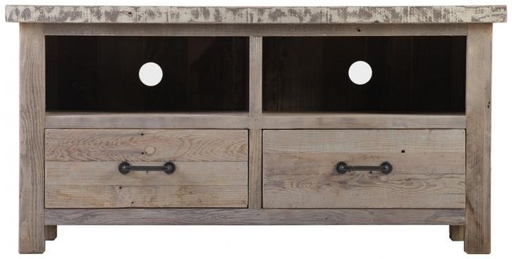 Reclaimed Wood 2 Drawer TV Unit